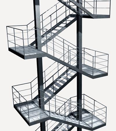 Precio en espa a de ud de escalera de emergencia for Escalera exterior de acero galvanizado precio